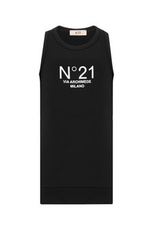 N°21 Girls Black Cotton Dress