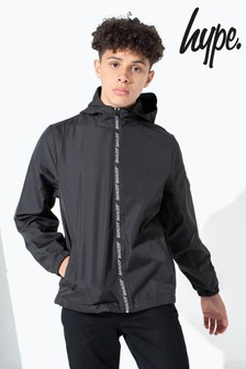 Hype. Black Taped Kids Runner Jacket