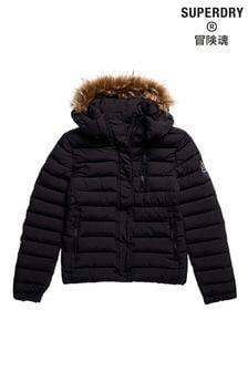 Superdry Classic Faux Fur Fuji Padded Jacket