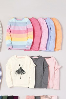 5 Pack Long Sleeve Rainbow T-Shirts (3-16yrs)