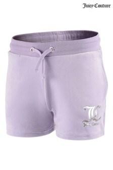 Juicy Couture Purple Velour Shorts