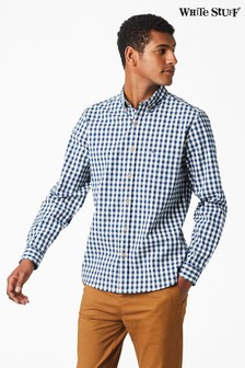 White Stuff Blue Izu Gingham Shirt