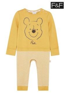 F&F Winnie The Pooh Stripe Sleepsuit