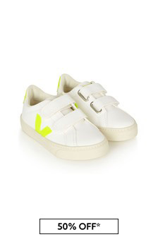 Veja Kids White Vegan Leather Trainers