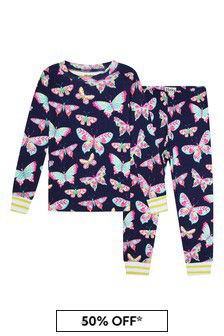 Hatley Kids & Baby Girls Blue Delightful Butterflies Organic Cotton Pyjama Set