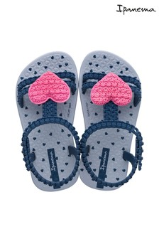Ipanema Navy/Pink Heart Sandals
