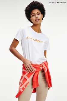 Tommy Hilfiger White Annie Relaxed Script T-Shirt