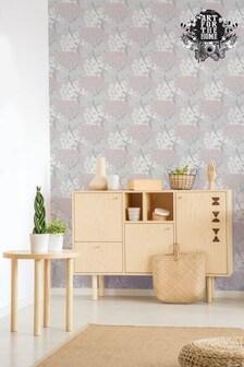 Art For The Home Pink Fresco Lykke Tree Wallpaper