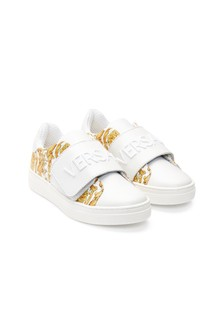 Versace Kids White Trainers