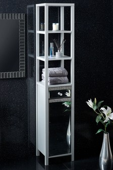 Harper Gem Mirrored Tall Storage Unit