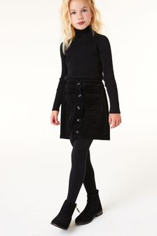 Button Through Cord Skirt (3-16yrs)