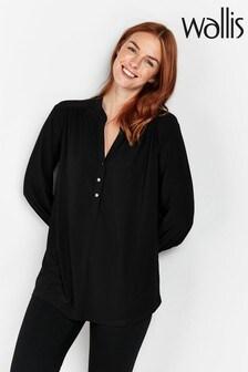 Wallis Black Utility Shirt