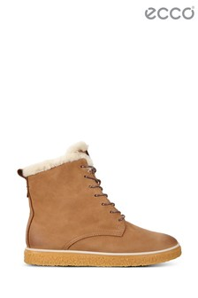Ecco Camel Lace Boot