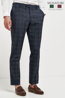 TG Di Fabio Signature Check Suit: Trousers