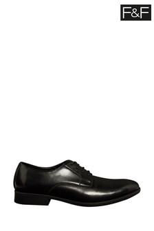 F&F Black Gibson Lace-Up Shoes