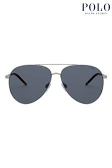 Polo by Ralph Lauren Aviator Style Sunglasses