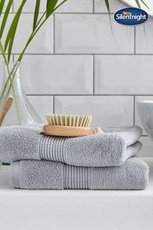 Set of 2 Plain Dye Towels by Silentnight