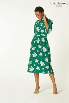L.K.Bennett Green Tamara Dress