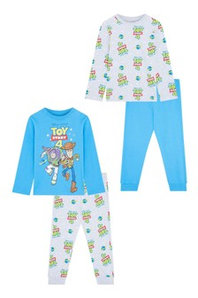 F&F Blue Toy Story 2 Pack Pyjamas