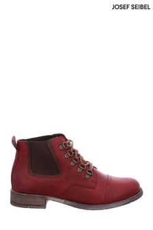 Josef Seibel Red Sienna Casual Lace-Up Boots