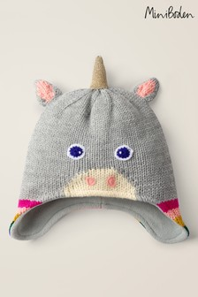 Boden Grey Unicorn Hat