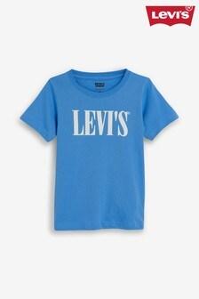 Levi's® Kids Blue Serif Logo T-Shirt