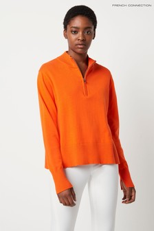 French Connection Mila Knit Half Zip Jumper