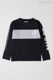Angel & Rocket Black Printed T-Shirt