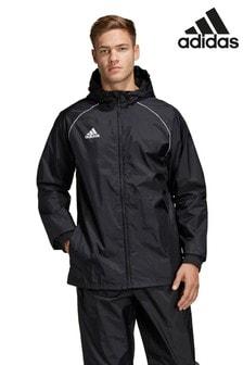 Черная куртка-дождевик adidas