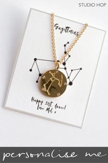 Personalised Zodiac Necklace by Studio Hop
