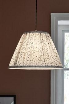 White Polka Dot Easy Fit Lamp Shade