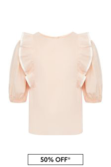 Chloe Kids Girls Pink Cotton Blouse