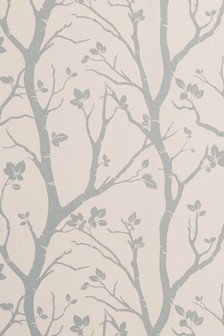 Paste The Wall Silver Woods Wallpaper Sample