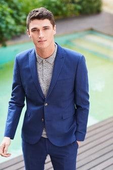Plain Linen Blend Suit