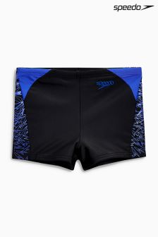 Speedo® Black/Blue Boom Splice Short