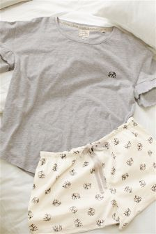 Cotton Elephant Shorts Set