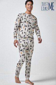 Mens Matching Family Woodland Pyjamas