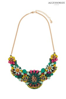 Accessorize Teal Tropicana Statement Necklace