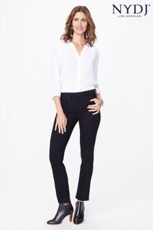NYDJ Black Sheri Slim Leg Jean