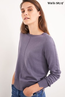 White Stuff Purple Urban Crew Neck Jumper