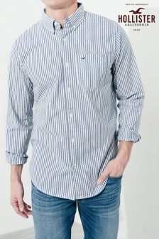 Hollister Blue Stripe Oxford Shirt