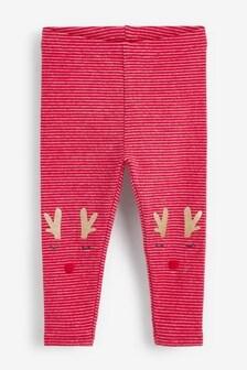 Reindeer Embellished Leggings (3mths-7yrs)