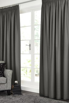 Pencil Pleat Lined Cotton Curtains