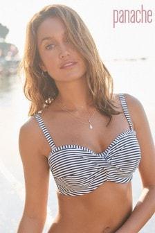 c756877827b Panache Black/White Stripe Anya Underwired Bandeau Bikini