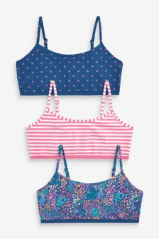 3 Pack Ditsy Floral Crop Tops (Older)