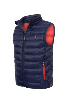 Boys Navy Packable Gilet