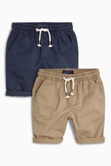 鬆緊帶短褲二件裝 (3-16歲)