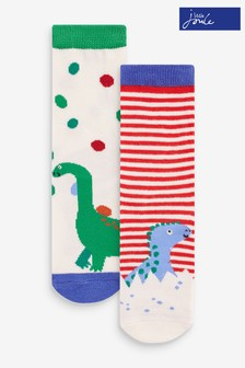 Joules Green Neat Feet 2 Pack Character Socks