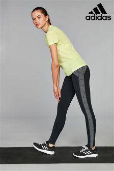 adidas Black Printed Yoga Tight