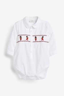 Smocked Bear Shirt Bodysuit (0mths-2yrs)